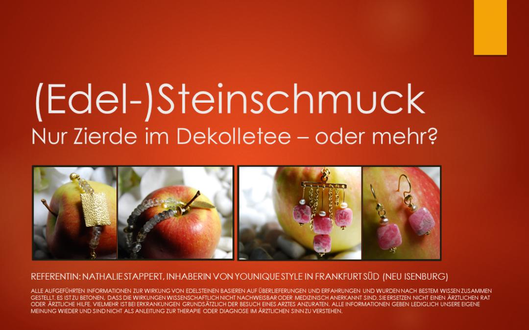 """Vortrag """"Edelstein-Schmuck: Zierde – oder mehr?"""""""
